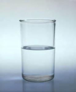image glass half full